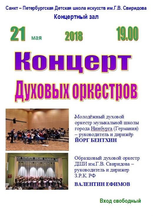 Концерт духовых оркестров
